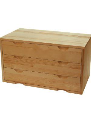 Ladenblok 3 laden, 40 cm diep